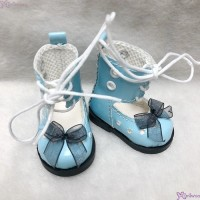 SHU074BLE Mimiwoo Yo-SD 1/6 bjd Doll Shoes Lace Hole Boots Blue