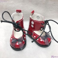 SHU074RED Mimiwoo Yo-SD 1/6 bjd Doll Shoes Lace Hole Boots Red