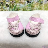 Yo-SD 1/6 bjd MCC Doll Butterfly Bow Flower Strap Shoes PINK SHU075PNK