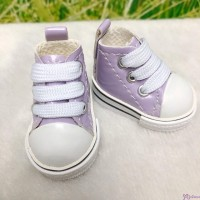 Monchhichi S Size Plush Doll PU Leather Shoes Purple YK02PUE