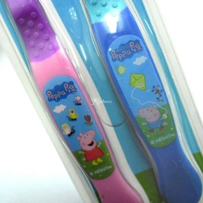 Peppa Pig Kids Toothbrush Twin Pack (2 Color Set)  450853