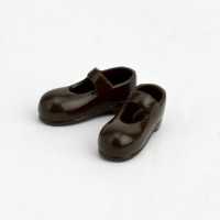 11SH-F001T-G Obitsu 11cm Body Doll Strapped Magnet Shoes Brown