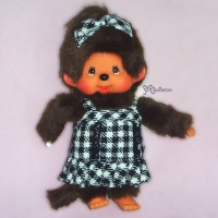 Monchhichi S Size 2010 Dressed Montone Checker Dress Girl 239760