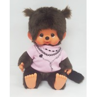 Monchhichi L Super Soft Head Sitting MCC Girl Pink Tee 241484