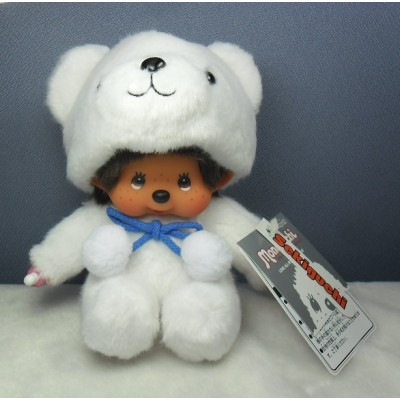 Monchhichi S Size Stuffed Plush - MCC Animal Polar Bear 259458