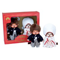 Monchhichi 20cm MCC Plush Japanese Wedding Box Set 260890