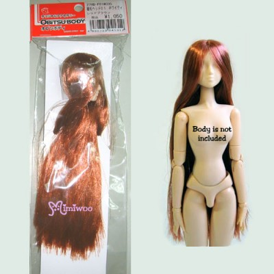27HD-F01WC05 Obitsu 1/6 White Head 01 Long Red Brown Hair