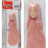 27HD-F01WC16 Obitsu 1/6 Doll White Head 01 Long Rooted Hair Pink