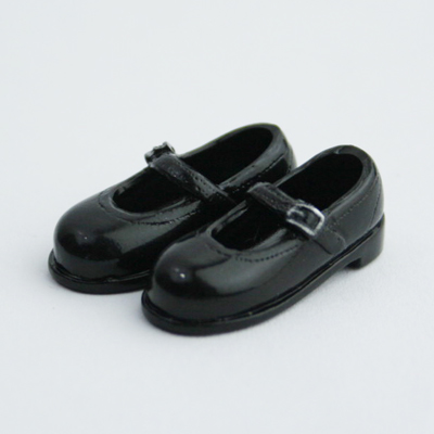 27SH-F011B Obitsu 27cm Doll 1/6 body Strapped Shoes Black