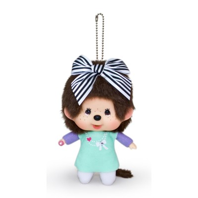 293240 Monchhichi Bubble Head MCC Girl Charm Monotone Stripe