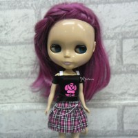 1/6 BJD Outfit Low Waist Skirt + Tee ROSE 400200