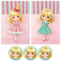 CWC Limited Girl Doll Middie Blythe Smiley Waffle 613350