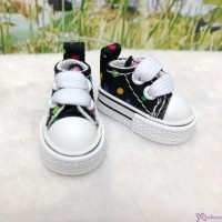 1/6 Bjd Neo B Denim Doll Shoes Color Dots Sneaker Black SHP008BLK
