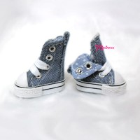 1/6 Bjd Neo B Denim MICRO Shoes Folded Boots Dark Blue SHP188DBL