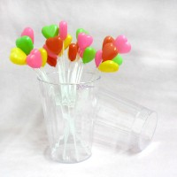 CH-G014CRL Eco Cup Party Plastic Round Glasses Clear 10pcs Set