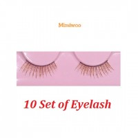 BJD DIY Material Craft 1/3 SD 1/4 MSD OB 60cm Doll Eyelash BROWN (Set of 10) EL01-DB x 10