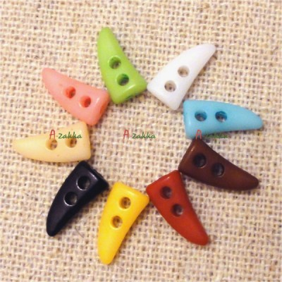 Doll Clothes DIY Crafts 10mm Mini Horn Button Yellow (100pcs) NDB028SX-YEW