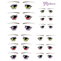 ED6-13 1/6 Bjd Doll Eye Decal Sticker 13