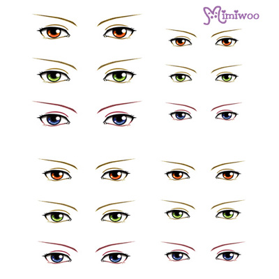 ED6-20 1/6 Bjd Doll Eye Decal Sticker 20