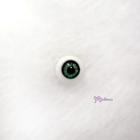 FHA06C04 1/6 Bjd 6mm Acrylic Half Round Eye Green Grey