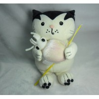 Jacob Cat 25cm Stuffed Plush - Enjoy Fishing Squid JC25125B