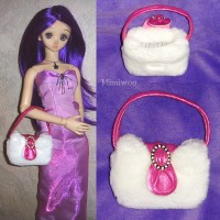 KSA001 KSA001 1/3 Bjd Doll Hand Bag - Snow Lady