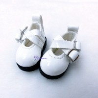 1/6 Bjd Doll Cross Strap Shoes White LYS002WHE