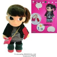 Mame Momoko Checker Fashion Girl Mini Figure 10cm Doll 215500