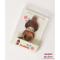 Monchhichi x Bleu Bleuet 9cm Smart Phone Ring MCC Girl iRing 131667b ~ LAST ONE ~