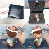 Monchhichi Gem Jewelry Swarovski Crystal Figure - Golf Player 1513