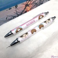 Monchhichi 45th Anniversary Happy Trip Mechanical Pencil Pink ~ MADE in JAPAN ~ 166026