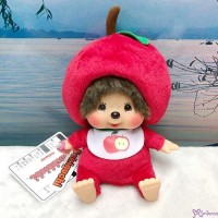 Apple Monchhichi 18cm S Size Plush Bean Bag Sitting  201235