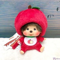 Apple Monchhichi 14cm SS Size Plush Mascot Bean Bag Sitting  201242