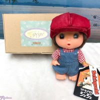 Sekiguchi GeGe 14cm Doll Overall with Red Cap ~ RARE ~ 2192