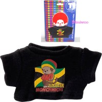 Monchhichi S Size Fashion Outfit T- Shirt Black Tee Jamaican MCC 222110