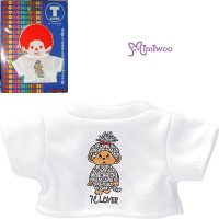 Monchhichi S Size Fashion Outfit T- Shirt Lover Tee White 222140