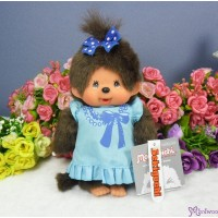 Sekiguchi Monchhichi S Size Dressed Printed Blue one piece Girl 222680