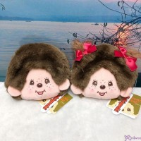 Monchhichi 12 x 13cm Plush Coin Bag Passcase Card Case with Buckle Boy & Girl 232550+60