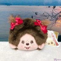 Monchhichi 12 x 13cm Plush Coin Bag Passcase Card Case with Buckle Girl 232560