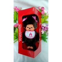 Monchhichi 20cm Move Eyes with Pink Sleep Bib Girl 233069
