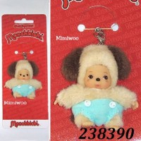 Monchhichi Baby Bebichhichi Friend Plush Mascot Phone Strap - Dog 23839
