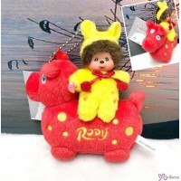 Monchhichi x Rody Horse 11cm Plush Mascot Ball Chain Red 238960