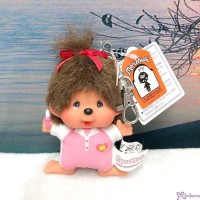 Monchhichi SS Big Head Mascot Keychain Tennis Club Girl 239510