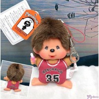 Monchhichi SS Big Head Mascot Keychain Basketball Club Boy 239580