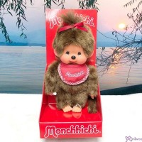 Sekiguchi Monchhichi S Size Plush Red Bib Girl 255100
