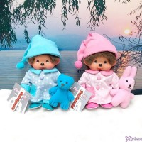 Monchhichi S Size 20cm Pajama Sleeping MCC Boy & Girl (Pair) 262080+90