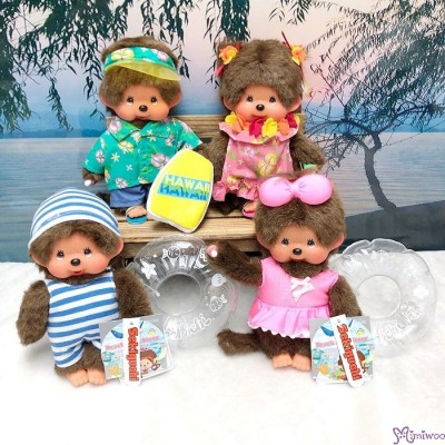 Monchhichi S Size Plush Beach Side Story Swim Suits Boy with Floaty 295803