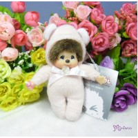 Monchhichi 10cm Plush Birthday Mascot Birth Stone Keychain - April 2674