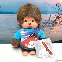 Monchhichi S Size Plush Japanese Tee - Red Mount Fuji 271940