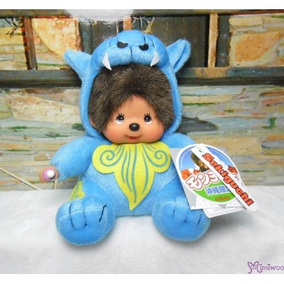 Monchhichi Plush S Size Japan Okinawa Limited - Shisa Blue 282230
